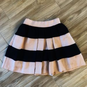 BCBG Pink and Black Striped Skirt